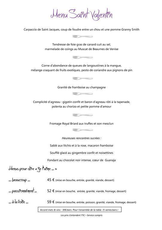 menu saint valentin c teaux fourchettes. Black Bedroom Furniture Sets. Home Design Ideas